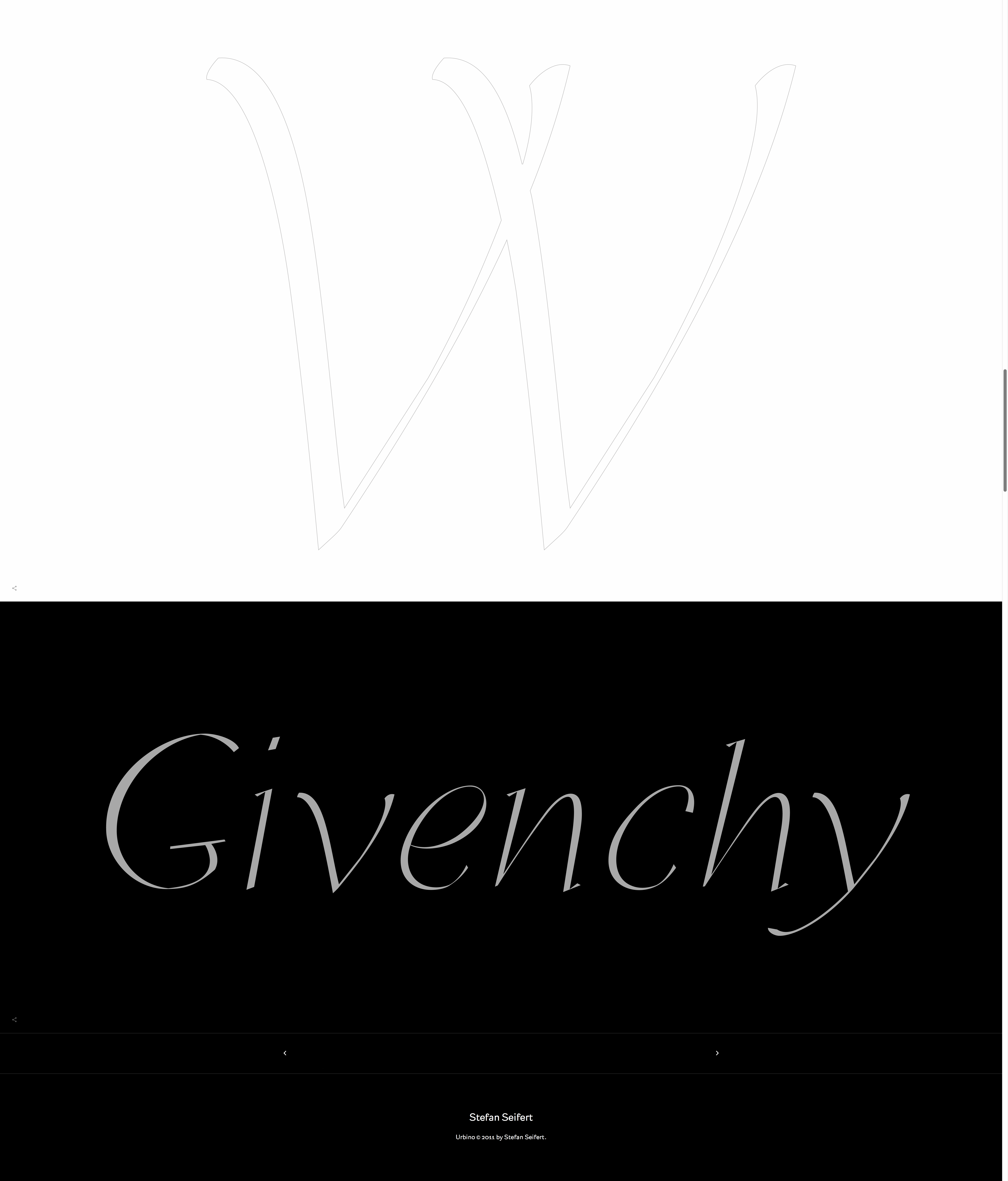Givenchy in Urbino Typeface